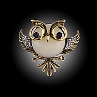 vintage mode ugle broche