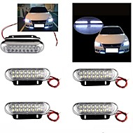 1set 4 Car Truck Universal Day Fog Aux Driving DRL 16 LED Light Lamp White