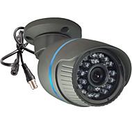 cctv 1200tvl 3.6mm tercera sony 24les 960 H CMOS HD IR-cortaron la cámara de seguridad de bala impermeable al aire libre + soporte