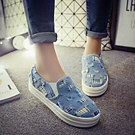 Women's Shoes Canvas Flat Heel Ballerina Loafers Outdoor / Office & Career / Dress / Casual Black / Blue