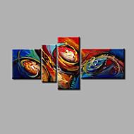 bereit, gestreckten handgemalte Ölgemälde 4 Stück Leinwand Wandkunst modernen abstrakten blau gelb orange hängen