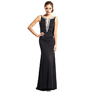 TS Couture® Formal Evening Dress - Black Trumpet/Mermaid Scoop Floor-length Jersey