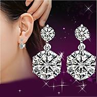 Női Függők utánzat Diamond aranyos stílus luxus ékszer jelmez ékszerek Ezüst Kristály Strassz Ékszerek Kompatibilitás Esküvő Parti Napi