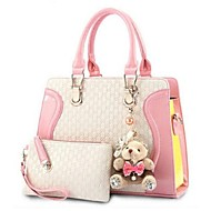 Women PU Doctor Tote - White / Pink / Blue / Black