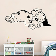 9255 Spotty Dog Wall Stickers Lovely Sleeping Dog Wall Decals For Kids Room DIY Home Decorations Wall Decals