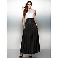 공식적인 저녁 couture® TS는 버튼이있는 라인 V 넥 발목 길이 오간자 / 태 피터 드레스