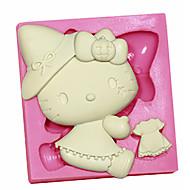 Hello Kitty Silicone Fondant Silicone Sugar Craft Molds Cartoon DIY Cake Decorating