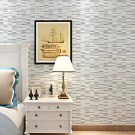New Rainbow™Stripe Wallpaper Contemporary Wall Covering , Non-woven Paper Mosaic Non-woven Striped Wallpaper