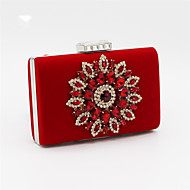 Women Satin Event/Party / Wedding Evening Bag Red / Black