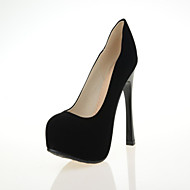 Women's Shoes Leatherette Stiletto Heel Heels Heels Wedding / Office & Career / Dress / Casual Black