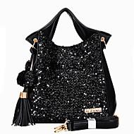 Women PU Baguette Shoulder Bag / Tote - Black