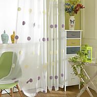zwei Platten modernen Polka Dots purple Kaffee Schlafzimmer Polyesterflächenvorhänge Vorhänge