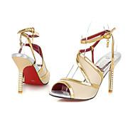נעלי נשים - סנדלים - דמוי עור - עקבים / חדשני - שחור / כחול / סגול / אדום / בז' - שמלה / מסיבה וערב - עקב סטילטו