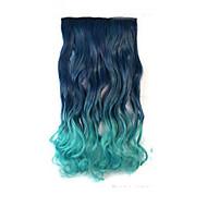 alta resistência à temperatura de dois tons 26 polegadas longo encaracolado 5 clipe de extensão peruca venda quente.