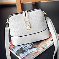 Women PU Casual / Office & Career Shoulder Bag White / Black
