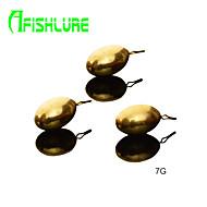 Afishlure Lure Copper Pendant Copper Pour Pure Copper Fishing Weights 7g Fishing Sinkers Fishing Accessaries 6pcs/lot
