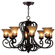 Max60W Lámparas Araña ,  Cosecha Pintura Característica for Cristal MetalSala de estar / Dormitorio / Comedor / Cocina / Habitación de