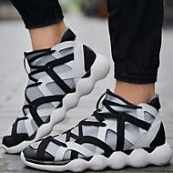 Syntetika Plátno-Pohodlné Kovbojské Sněhule Bootie Jezdecké boty Módní boty Motorkářské boty Pracovní obuv Boty s kolečky-Pánské-Černá