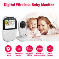 "Besteye® 2.4"" LCD Screen Babysitter Wireless Baby Monitor with Night Vision 2 Way Audio Time Alert Baby Camera"