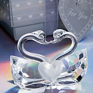 Exquisite Handmade Crystal Kissing Swans Baby Shower Favors, Bridal Shower Favours