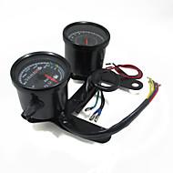 Universal Motorrad Tachometer Kilometerzähler Manometer LED-Anzeige mit Halterung