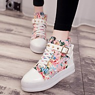 Women's Shoes Fabric Platform Platform Round Toe Fashion Sneakers Outdoor / Casual Multi-color