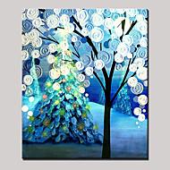מצויר ביד מופשט / L ו-scape / חג / פרחוני/בוטנימודרני פנל אחד בד ציור שמן צבוע-Hang For קישוט הבית