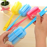 ZIQIAO Kitchen Cleaning Tool Rotation Powerful Cleaning Cup Brush With Long Handle (Random Colors)