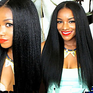 Premierwigs 8''-26'' Soft Kinky Straight Brazilian Virgin Glueless Full Lace Human Hair Wigs Glueless Lace Front Wigs 8A