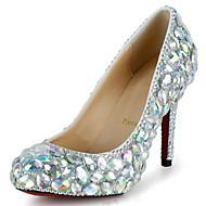 Women's Shoes Leather / Synthetic Stiletto Heel Heels Heels Wedding / Party & Evening / Dress Silver