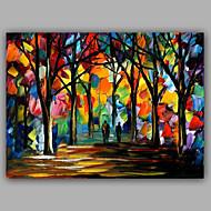 Knife Forest Pure Handmade Design Landscape Oil Painting