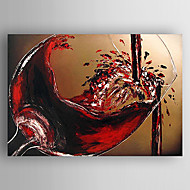 Oil Painting Wine and cup Hand Painted Canvas with Stretched Framed Ready to Hang