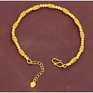Plated 24K gold transfer bead bracelet