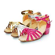 Na míru - Dámské / Dětské - Taneční boty - Latina - Satén - Nízký podpatek - Růžová / Stříbrná / Zlatá