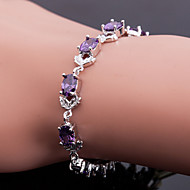 Top Quality AAA Zircon Bracelet Fine Jewelry ,Elegant Purple