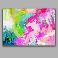 Ručně malované AbstraktníStředomoří Jeden panel Plátno Hang-malované olejomalba For Home dekorace