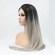 """18 """"-24"""" ombre harmaa hiuksista pitsi peruukit Brasilian täynnä pitsiä / pitsi edessä harmaa peruukit hiuksista peruukki muoti naisten"""