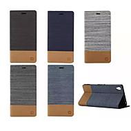 ソニーXPERIA 2 / M4 / E4 / C4 / Z3 / Z4 / Z3ミニ/ T3のための財布のカードスロットホルダー付きの豪華なフリップキャンバスレザーケース