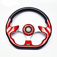 nuevo universal de 320mm 13 pulgadas momo coche auto modificado pu automóvil material de volante de carreras con botón de la bocina