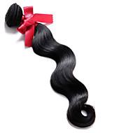 brasilianische reine Körperwelle Haar Weben Verlängerung 100g / pcs Farbe 1b 100% Menschenhaarwelle brasilianische Haarwebart Bundles