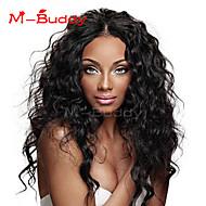"""10 """"-26"""" cabelo virgem encaracolado Kinky peruca cheia india&peruca frente multicolor opcional com cabelo do bebê para as mulheres"""