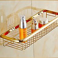 Cesto para Box de Banheiro / Gadget de Banheiro Ti-PVD De Parede 45cm*15cm*7cm(17.7*5.9*2.75inch) Latão Neoclássico