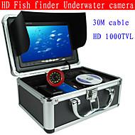 "7 ""buscador de los pescados 30m cámara submarina sonda de pesca profesional de la cámara de vídeo pesca submarina 1000tvl ca"