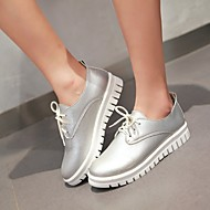 Women's Spring / Summer / Fall / Winter Platform / Round Toe Leatherette Outdoor / Casual / Athletic Platform Lace-upBlack / White /