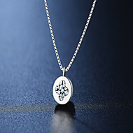 925 silver necklace Europe ornaments imitation diamond platinum plating