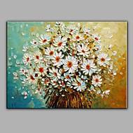 White Daisy Flower Oil Painting