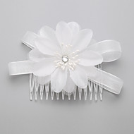 Women's / Flower Girl's Rhinestone / Chiffon Headpiece - Wedding / Special Occasion Hair Combs 1 Piece