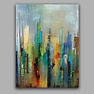 Abstract Modern Building Painting Stretched Free Shiping Oil Painting