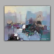 Ručno oslikana Sažetak Horizontalno,Moderna Jedna ploha Platno Hang oslikana uljanim bojama For Početna Dekoracija