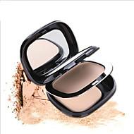 2 Pudder Tør Presset PulverFugt / Blegende / Concealer / Ujævn hud / Naturlig / Behandling af sorte render under øjnene / Pore